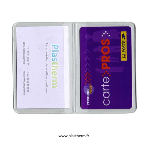 Banque porte carte 2 volets cristal - Porte carte administration penitentiaire ...